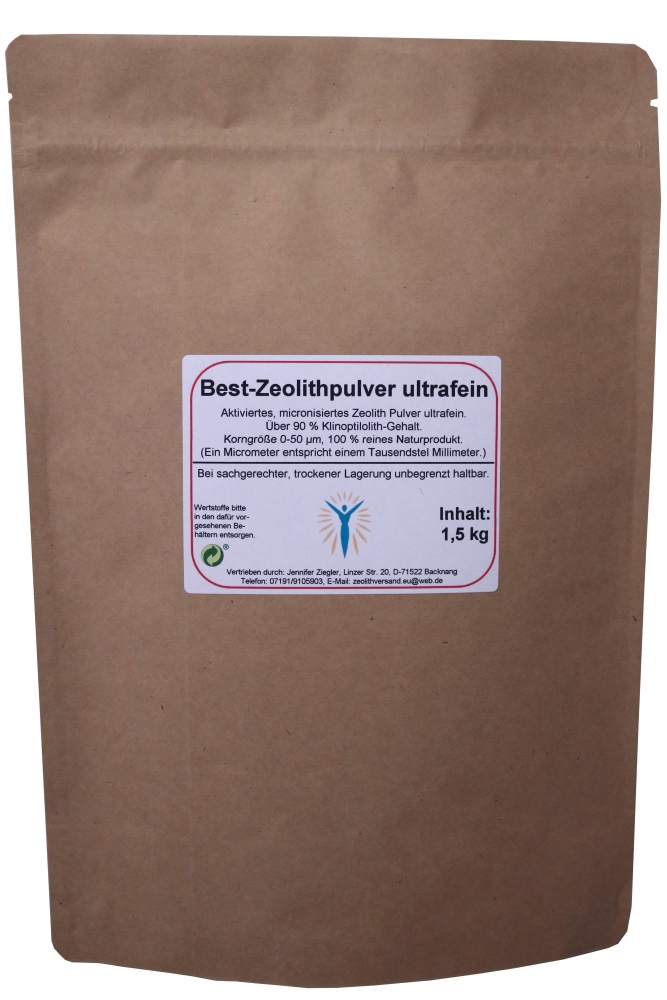 Bild 1 von Zeolite Fine Powder 0-50 µm - 1 kg - in paper bag
